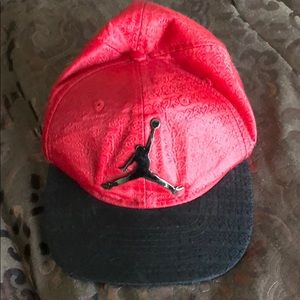 Youth Red/Black Jordan SnapBack hat